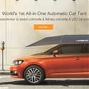 (Video) The World's First All-In-One Automatic Car Tent - Lanmodo
