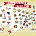 US Map Of The Signature Dish Of Each State