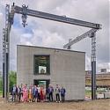 (Video) Kamp C Uses Europe's Largest 3D-Printer to Build Two-Story House