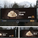 This McDonald's Billboard Near Whistler Gives Snow Reports via Espresso Drink Toppings