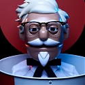 (Video) KFC Made a Weird Animatronic Harland Sanders Robot to Take Your Drive-Thru Order