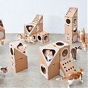 This Modular Cat Furniture is Made from Cardboard Boxes - A Cat Thing