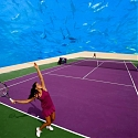 Tennis Court Boasts Ocean Life as Spectators