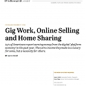 (PDF) Pew - The Gig Economy : Work, Online Selling and Home Sharing
