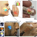 Flexible e-Skin Display Is Thinner Than Saran Wrap and Tracks Blood Oxygen Levels