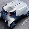 Mercedes Benz-Inspired Futuristic Delivery Robot Brings Essential Supplies Home