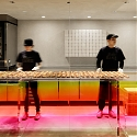 Yota Kakuda Uses Graduated Colored Acrylic Surfaces in Tokyo Cheese Tart Store