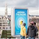 In Brussels, Locals Talk to Visiting Tourists via Public Phones