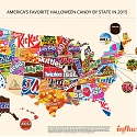 US Map Of Each State's Favorite Halloween Candy 2015