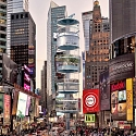 "100architects' ""Vertical Times Square"" Rethinks Urban Recreation"