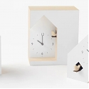 Nendo Designs Three Minimal Variations of The Traditionally Ornate Cuckoo Clock