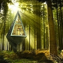 Tree-Inspired Single Pole Home - Primeval Symbiosis