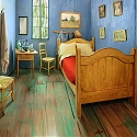 Life-sized replica of van Gogh's The Bedroom to rent on Airbnb