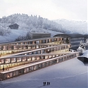 BIG's Hotel Design Will Let Guests Ski Down Its Zigzagging Roof