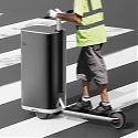 This Electric Scooter + Cleaning Trolley Is the Public Sanitation Solution Your Community Needs