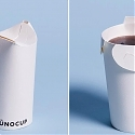 An Ergonomic Paper Cup That Folds Into Itself to Create a Spill-proof Lid - Unocup