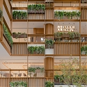 AIM Architecture Turns Shopping Mall Atrium Into Plant-Filled Plaza